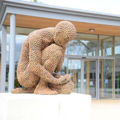 Anna Gillespie Recollection, Bronze Ed. 6 77 x 55 x 50 cm Pictured at Frensham Heights School, Surrey