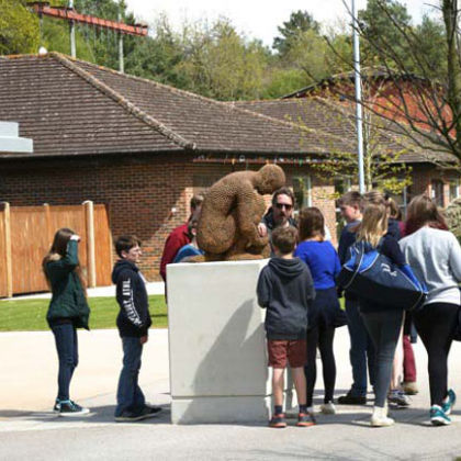 Recollection, Bronze Ed. 6  77 x 55 x 50 cm Pictured at Frensham Heights School, Surrey