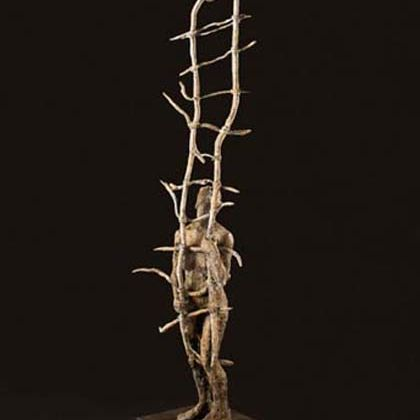 Anna Gillespie Right Then, Bronze Ed. 9 179 x 30 x 29 cm