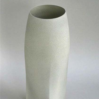 Light grey vessel form, Stoneware  h.43cm