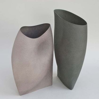 Two Vessels, Stoneware  h.37cm
