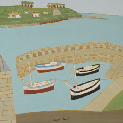 Coverack (1968) Oil on Board 27 x 22 inches