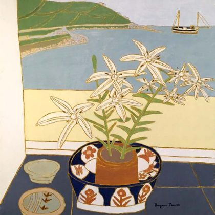 Tiger Lilies in the Window (1991), Oil on Board  24 x 20 ins