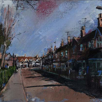 Spinney Hill IV, Oil on canvas 15 x 15cm