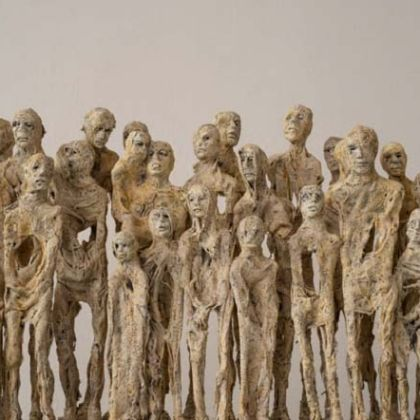 Anna Gillespie The Waiting Mixed Media for Bronze 47 x 119 x 14 cm.