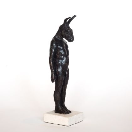 Beth Carter Small Standing Donkey, Bronze Ed. of 8 h31 x 9 x 7 cm