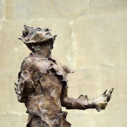 Anna Gillespie Man of Leaves, Bronze ed of 9 h51 x 30 x 22cm