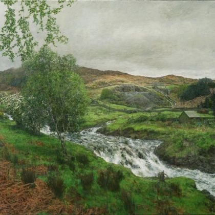 Martin Greenland Rain, Clearing From the West, Oil on canvas 82 x 61cm