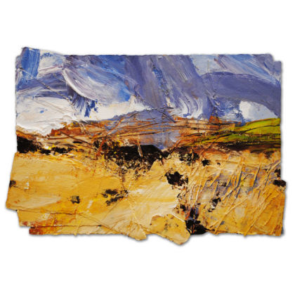 David Tress 'Waiting for Spring at Carn Meini', Mixed media on paper 43 x 63 cm.