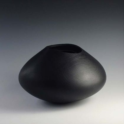 13. Ebonised Oak Inner Rimmed Vessel 20 x 33 cm