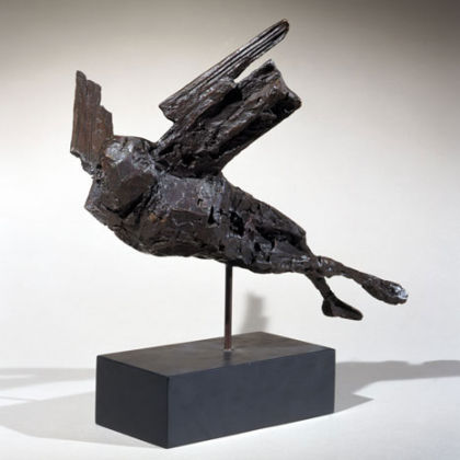 Maquette for the Alcock & Brown Memorial (Horizontal Birdman) 1962, Bronze Ed. 7 of 9  FCR114  h. 35.5 cm