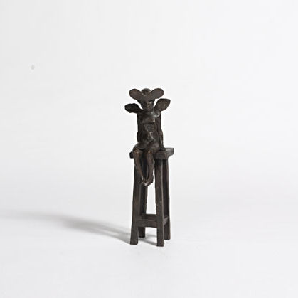 Fairy on a Stool, Bronze Ed. 15  37 x 13 x 9 cm