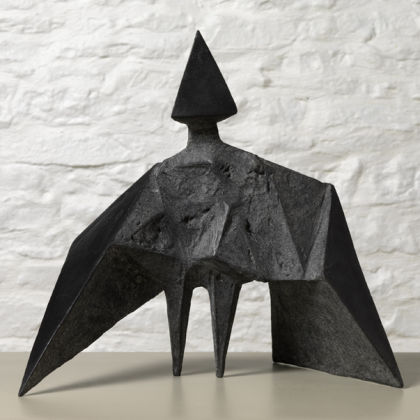 Maquette III Stranger 1969, Bronze (black) Edition of 6 589B H 38 cm
