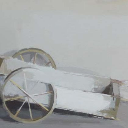 Cart, Oil on Board 30 x 61 cm