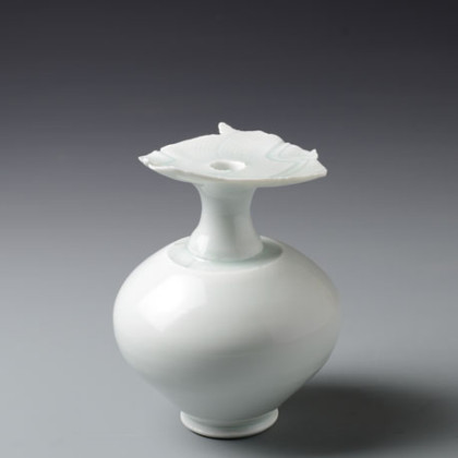 Rounded Porcelain Bottle, Qingbai Porcelain Ø 14 x 18 cm