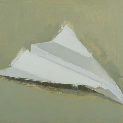 Paper Plane, Oil on Board 21 x 26 cm