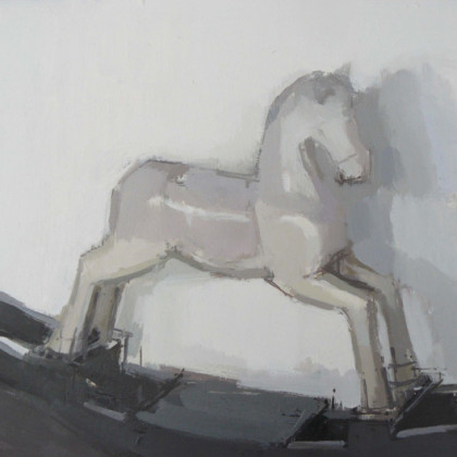 Rocking Horse, Oil on Board 23 x 28 cm