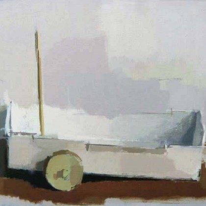 Small Cart, Oil on Board 24 x 29 cm