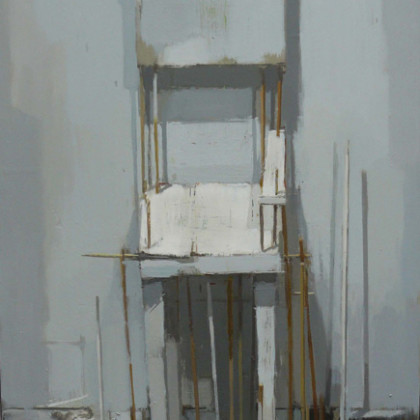 White Chair, Oil on Board 60 x 40 cm