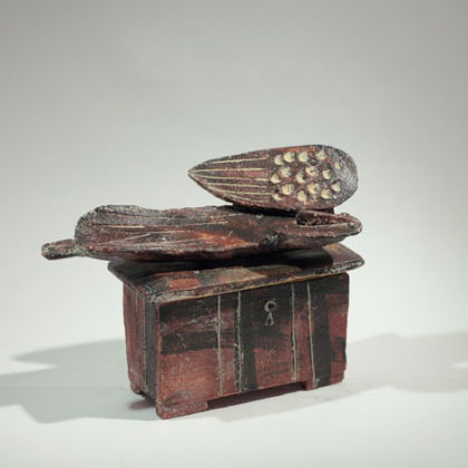 13. Lidded box Angel Resting, Stoneware h14.5 x 20 cm