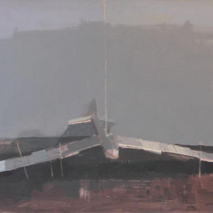Glider, Oil on board 61 x 91 cm