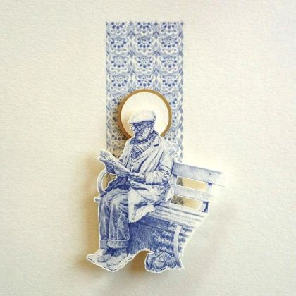 Greg Gilbert Bench, Biro relief on card