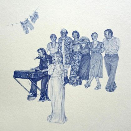 Greg Gilbert Performance, Biro on card