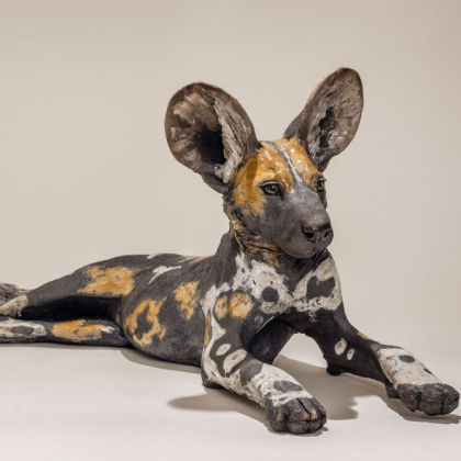 Nick Mackman Wild Dog Pup 1 (group), Low-fired ceramic