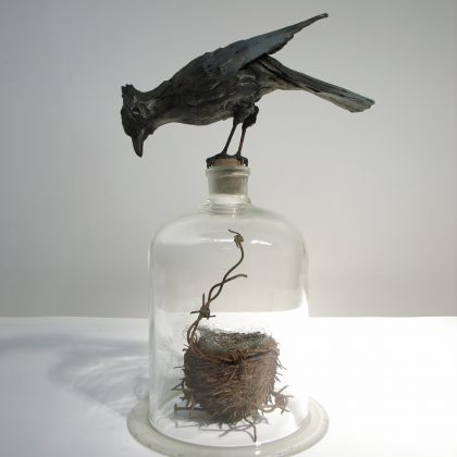 Patrick Haines Bluejay Trickster, Bronze and found objects Ed. of 3 h39 x 24 x 18cm
