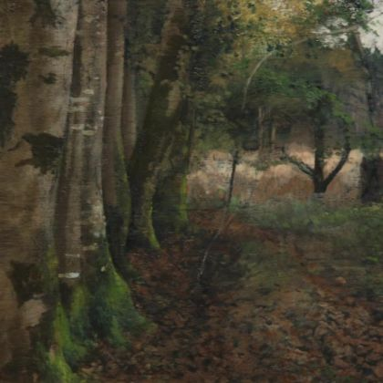 Martin Greenland November Woods, Oil on canvas