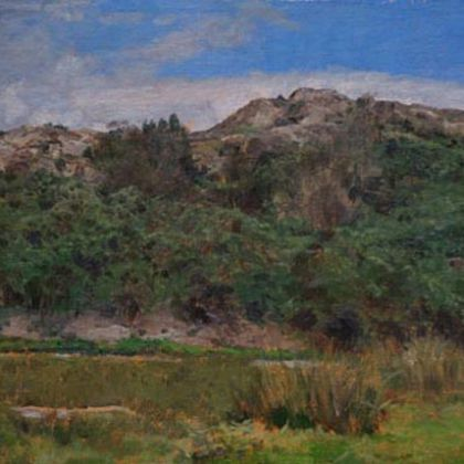 Martin Greenland Nameless Hill in September, Oil on canvas