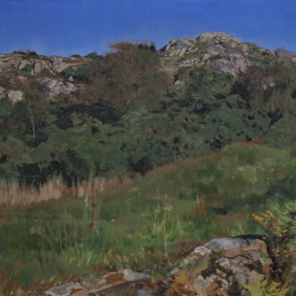 Martin Greenland Nameless Hill in October, Oil on canvas