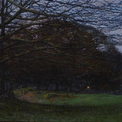 Martin Greenland High Lickbarrow at dusk (memory), Oil on canvas