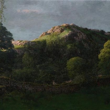 Martin Greenland Nameless Hill After Midsummer, Oil on canvas