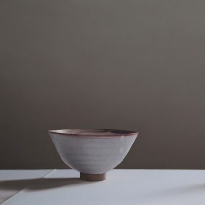 Jo Barrett Still Life with Bowl and Rose, Oil on Canvas 53 x 80 cm.